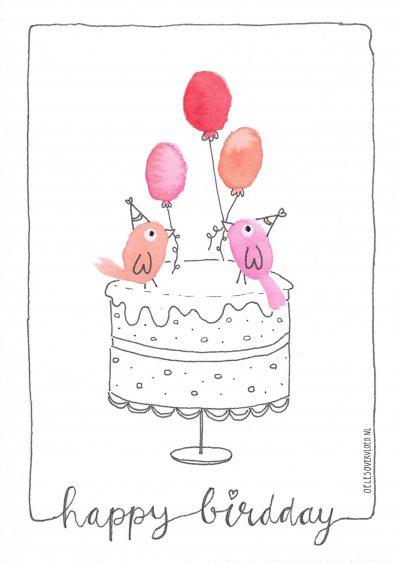 Verjaardag - wenskaart Oeles Overvloed