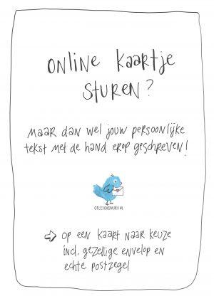 Handgeschreven Online kaartje sturen | www.OelesOvervloed.nl